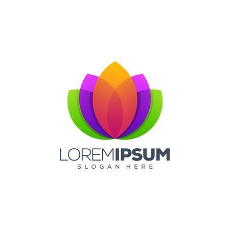 lotus logo design vector illustration logo design Illustration