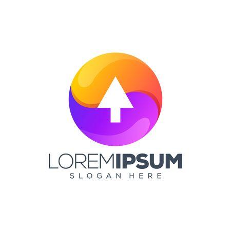colorful click logo design vector illustration