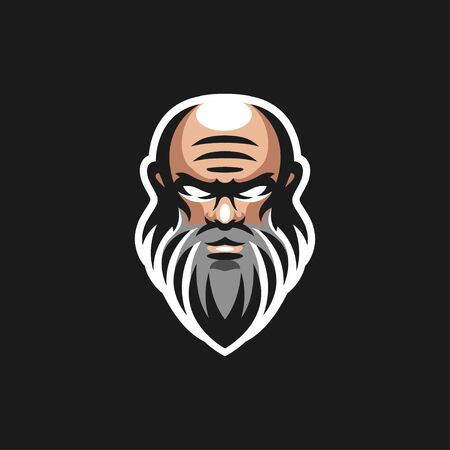 old men logo design vector illustration