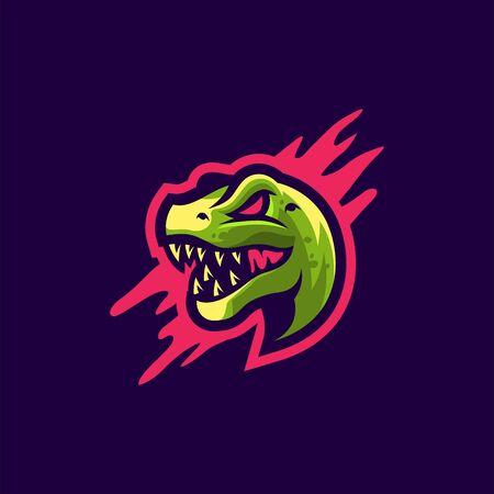 t-rex logo design vector illustration