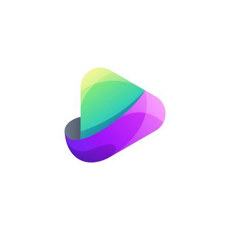 play logo design vector illustration Logó