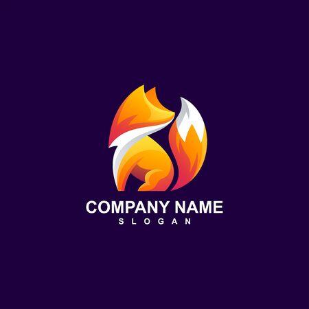 fox logo design vector illustration