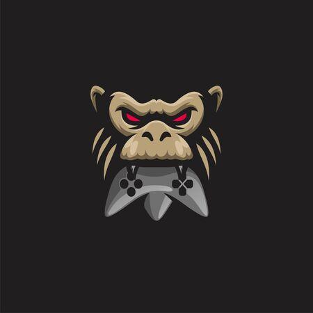 gorilla logo design vector illustration