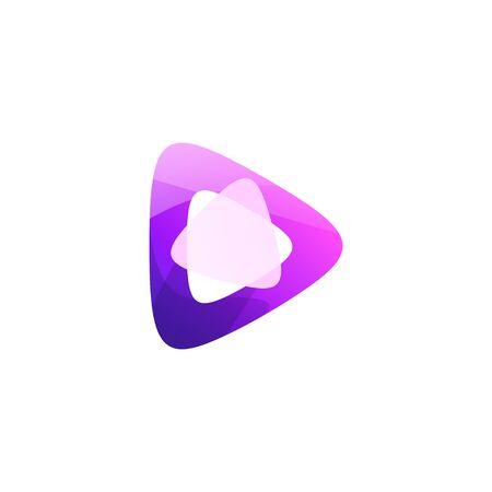 play logo design vector illustration Illustration