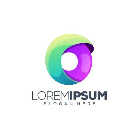 letter o logo design vector illustration