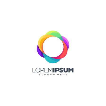 colorful circle logo design vector illustration