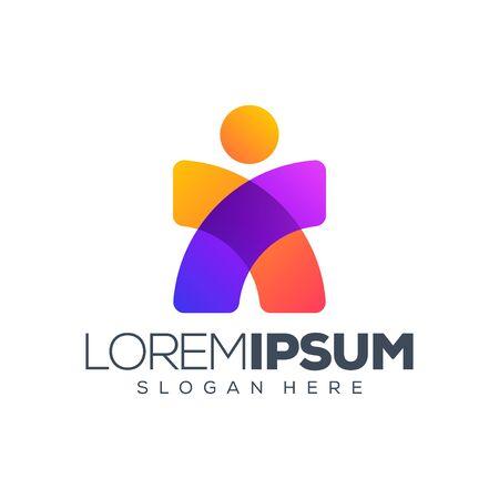 Menschen-Logo-Design-Vektor-Illustration