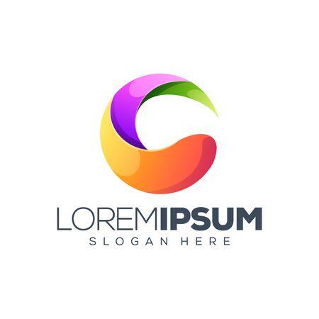colorful circle logo design vector illustration