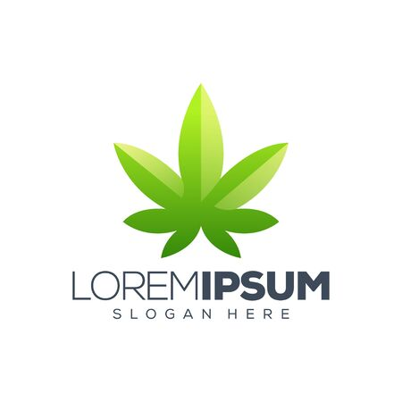Cannabis leaf logo design