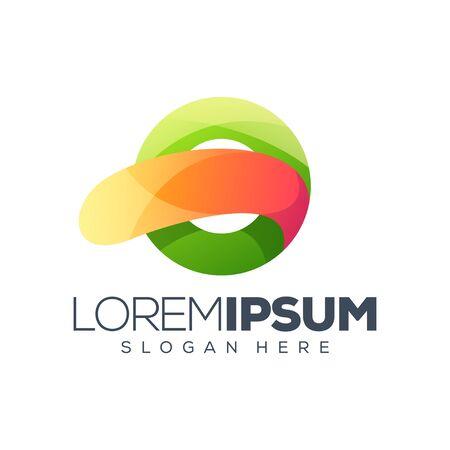 Colorful circle logo design
