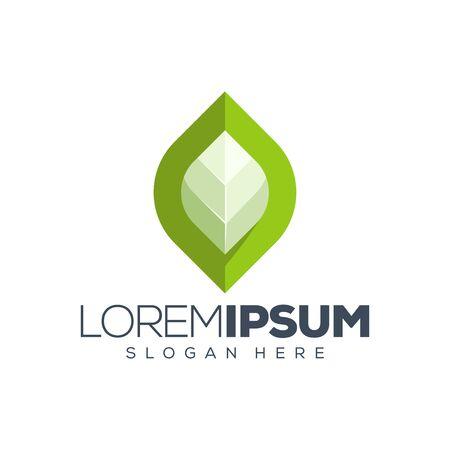leaf logo design vector illustration