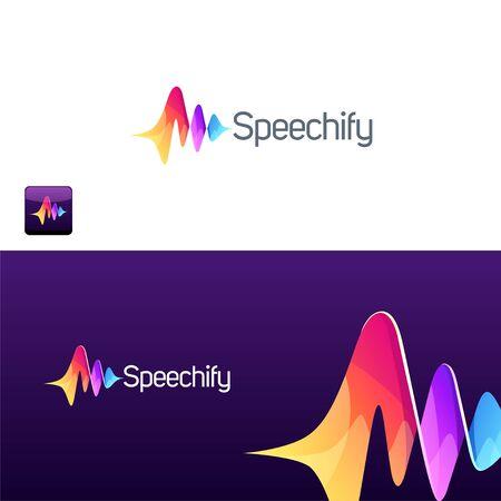 abstract logo design vector illustration Stock Illustratie