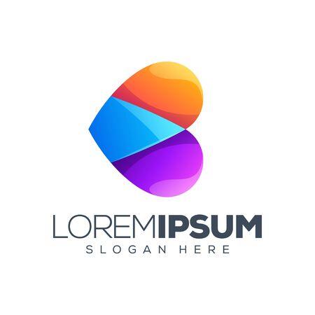 love colorful logo design vector illustration Stock Illustratie