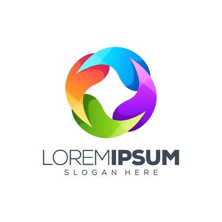 colorflow logo design vector illustration Stock Illustratie