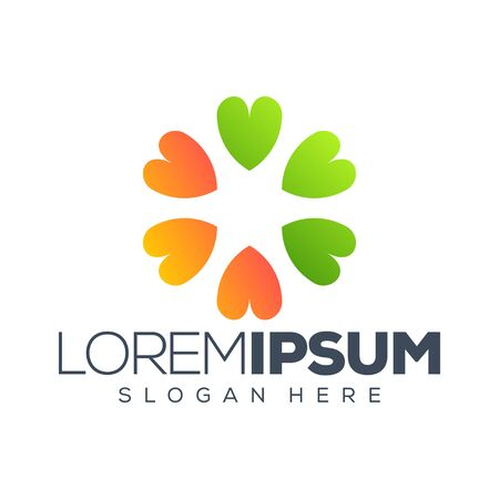 clover logo design vector illustration logo