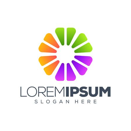 colorful circle logo design illustration