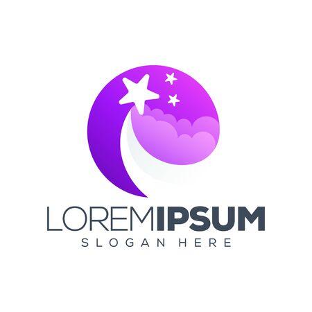 star logo design vector illustration Stock Illustratie