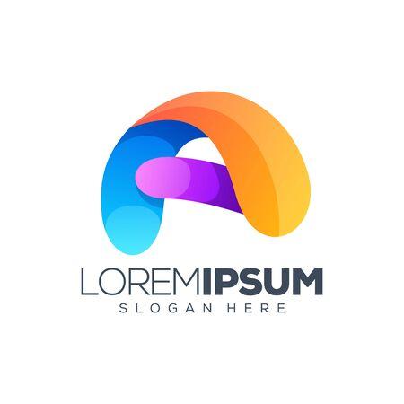 letter A logo design vector illustration