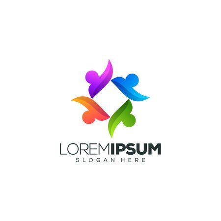 people logo design vector illustration