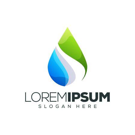 water leaf logo design vector illustration 向量圖像