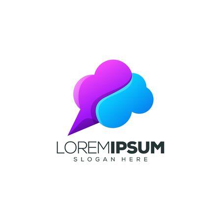 cloud logo design vector illustration