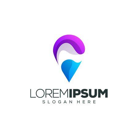 location logo design vector illustration
