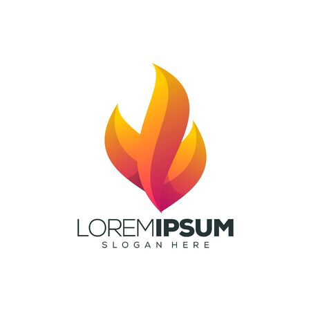 fire logo design vector illustration