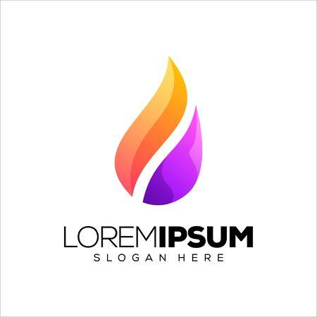 flame logo design vector illustration