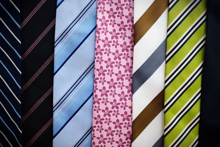 Several colorful neckties