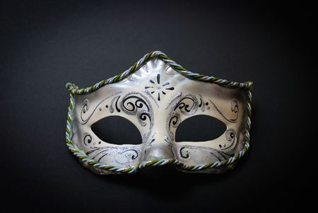 A white Venetian Mask on black background Stock Photo - 3591600