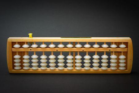 Abacus on black background