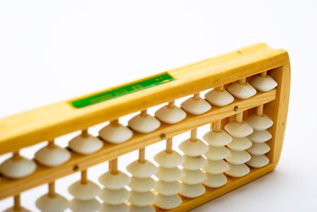 Traditional abacus on white background