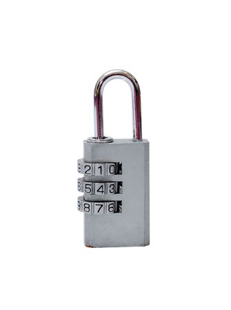 A combination padlock isolated