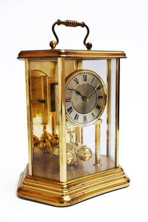 An antique rusted gold clock