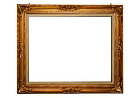 Montage: Klassik Gold Rahmen mit Befestigungsschrauben
