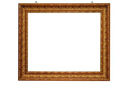 Classical gold frame with mounting screws