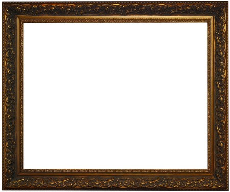Classical bronze frame with clipping path Stock Photo - 3997216