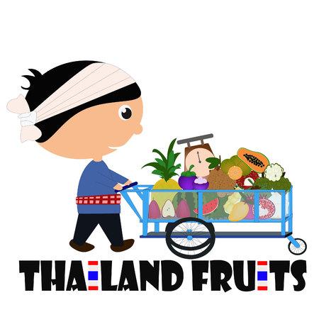 Man selling Fruits on street
