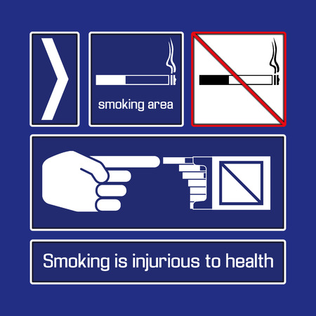 smoking place: Signage in public places, pointers