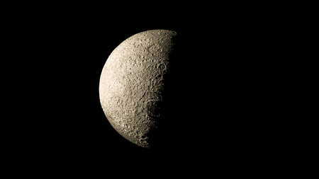 waxing gibbous: Moon on galaxy solar system planets Stock Photo