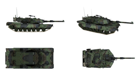 tanque de guerra: M1 Abrams tanque del ejército americano arma aislado