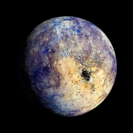 水銀惑星太陽系空間分離の図 写真素材