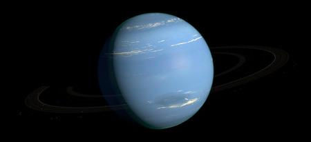 neptune: Neptune Planet Solar System space isolated illustration