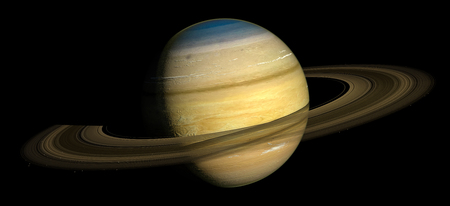 Saturn Planet Solar System space isolated illustration