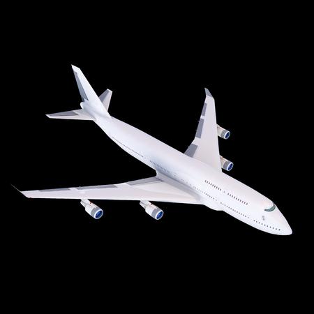 airbus: Boeing-747. travel Plane isolaited air transport model
