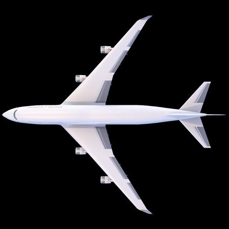 보잉 747. 여행 비행기 isolaited 항공 수송 모델