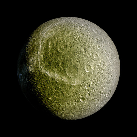 dione: Dione Planet Solar System space isolated illustration