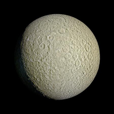 rhea: Rhea Planet Solar System space isolated illustration