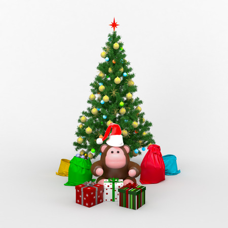 cristmas card: Cristmas composition card Stock Photo