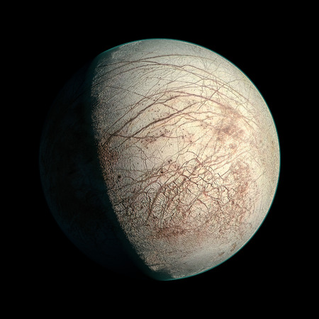 europa: Europa Planet Solar System space isolated illustration